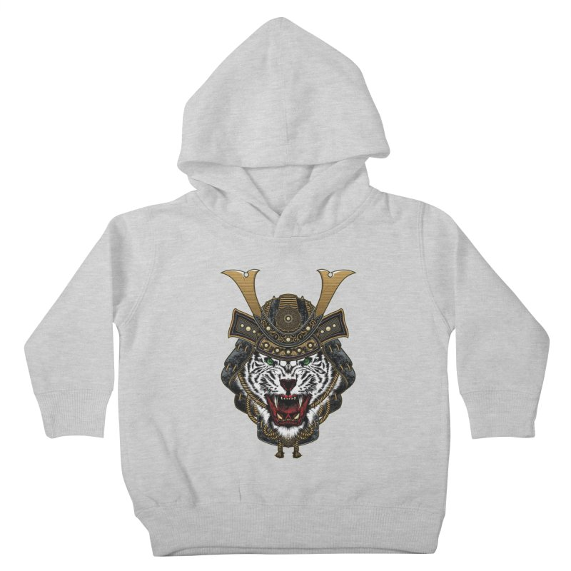 White Tiger Samurai Kids Toddler Pullover Hoody by MaddFictional's Artist Shop