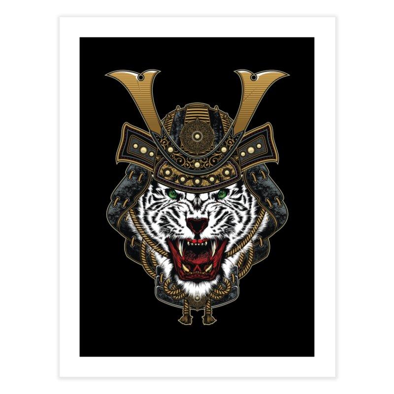 White Tiger Samurai Home Fine Art Print by MaddFictional's Artist Shop