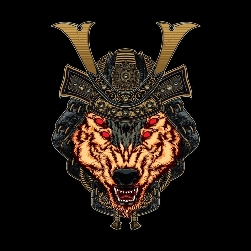 Samurai Brindle Wolf Kids Baby T-Shirt by MaddFictional's Artist Shop