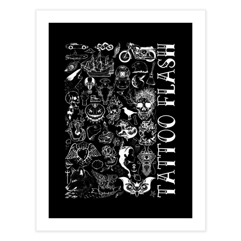 Tattoo Flash Home Fine Art Print by MaddFictional's Artist Shop