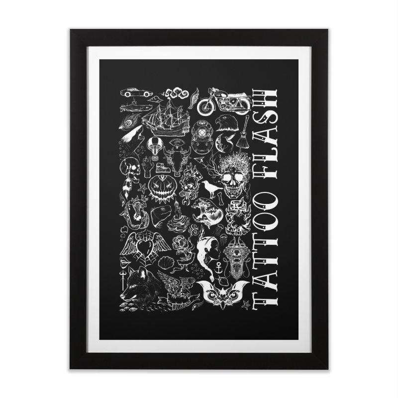 Tattoo Flash Home Framed Fine Art Print by MaddFictional's Artist Shop
