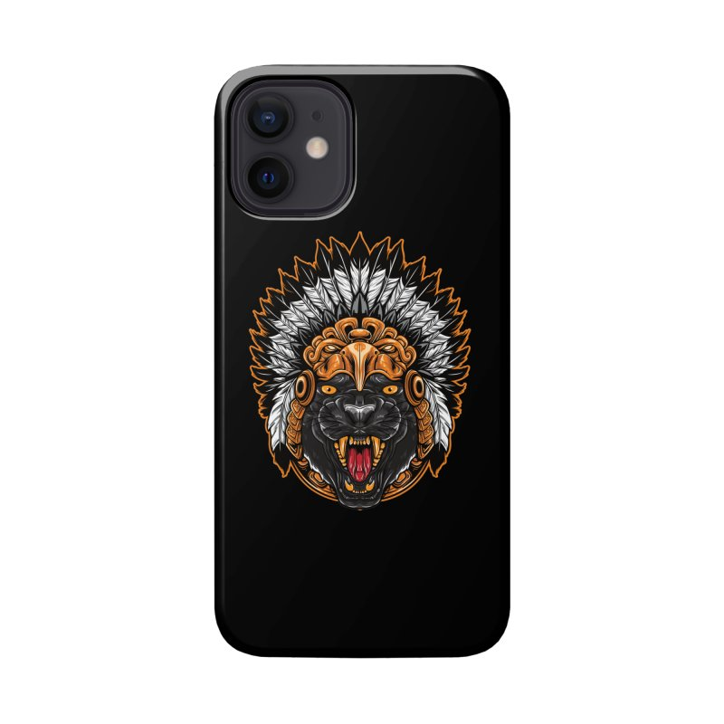 Aztec Black Panther Warrior Accessories Phone Case by MaddFictional's Artist Shop