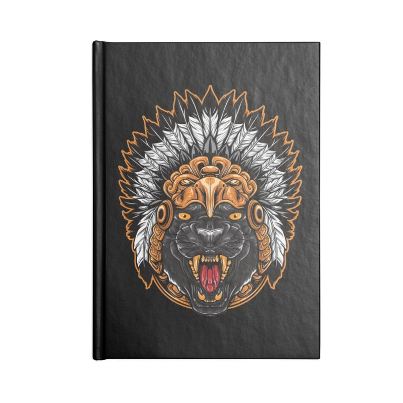 Aztec Black Panther Warrior Accessories Notebook by MaddFictional's Artist Shop
