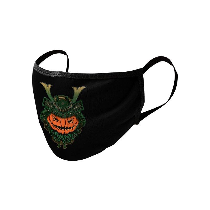 Jack O Lantern Samurai Accessories Face Mask by MaddFictional's Artist Shop