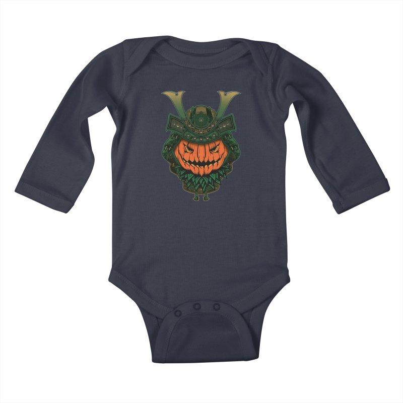 Jack O Lantern Samurai Kids Baby Longsleeve Bodysuit by MaddFictional's Artist Shop