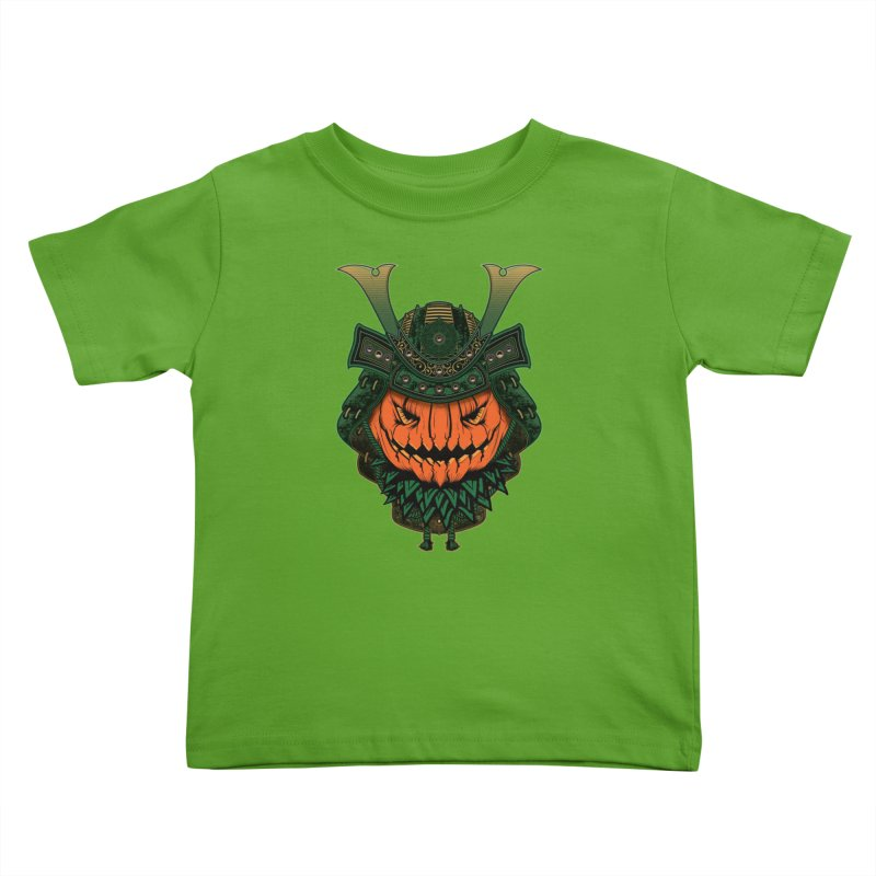 Jack O Lantern Samurai Kids Toddler T-Shirt by MaddFictional's Artist Shop