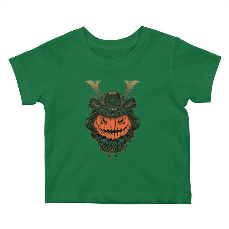 Jack O Lantern Samurai Kids Baby T-Shirt by MaddFictional's Artist Shop