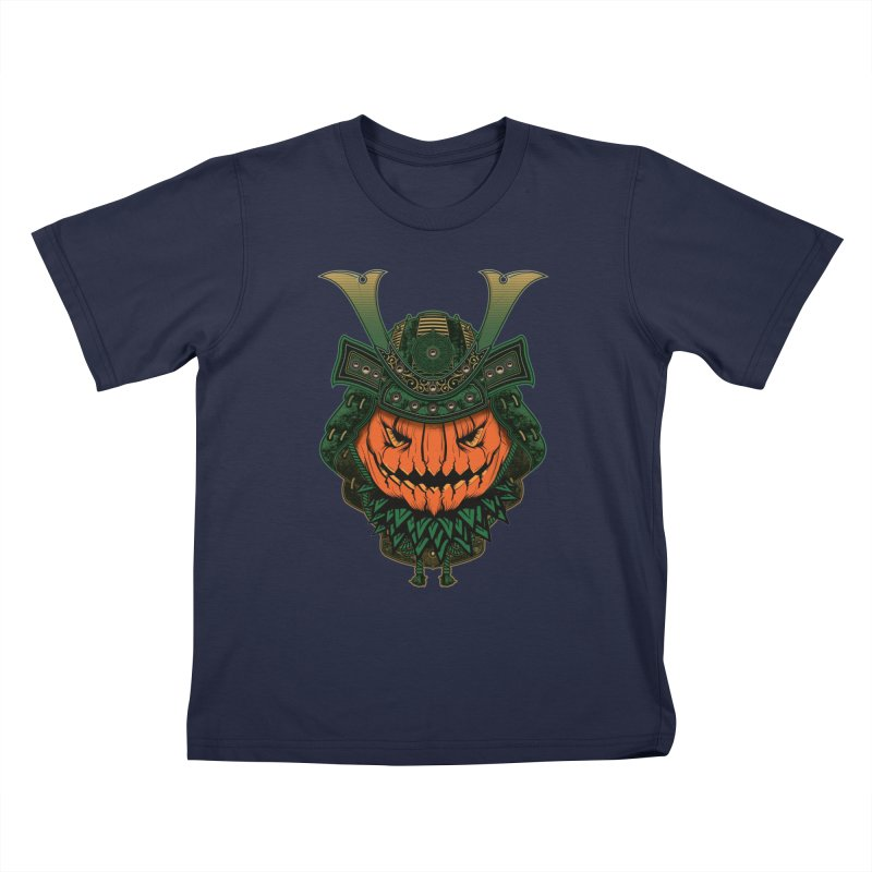 Jack O Lantern Samurai Kids T-Shirt by MaddFictional's Artist Shop