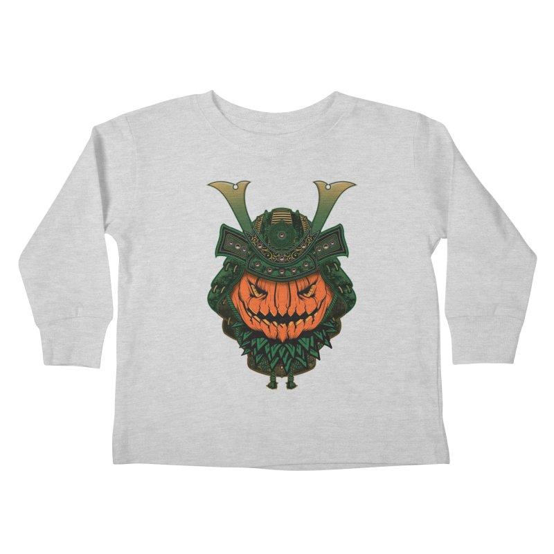 Jack O Lantern Samurai Kids Toddler Longsleeve T-Shirt by MaddFictional's Artist Shop