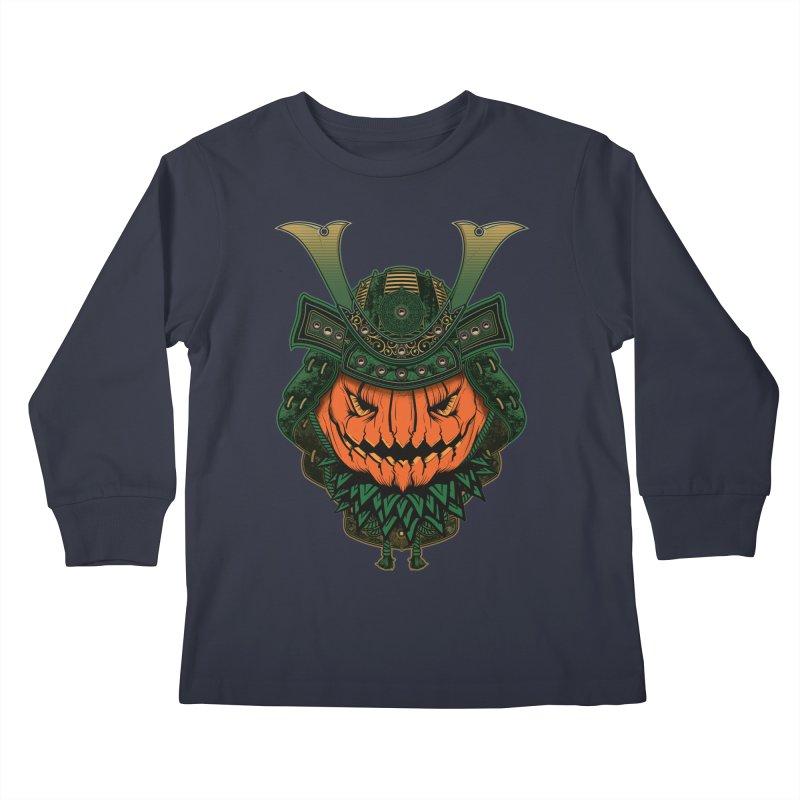 Jack O Lantern Samurai Kids Longsleeve T-Shirt by MaddFictional's Artist Shop