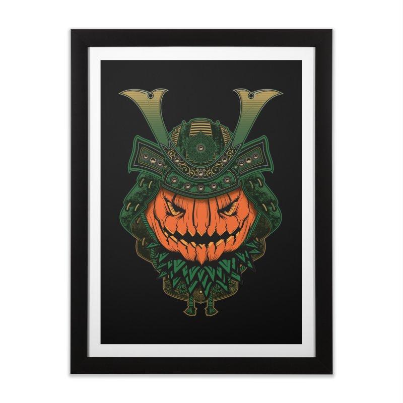 Jack O Lantern Samurai Home Framed Fine Art Print by MaddFictional's Artist Shop