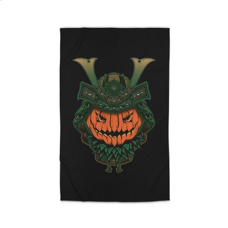 Jack O Lantern Samurai Home Rug by MaddFictional's Artist Shop