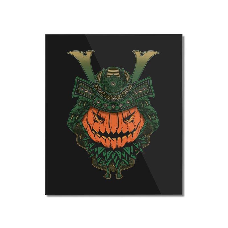 Jack O Lantern Samurai Home Mounted Acrylic Print by MaddFictional's Artist Shop