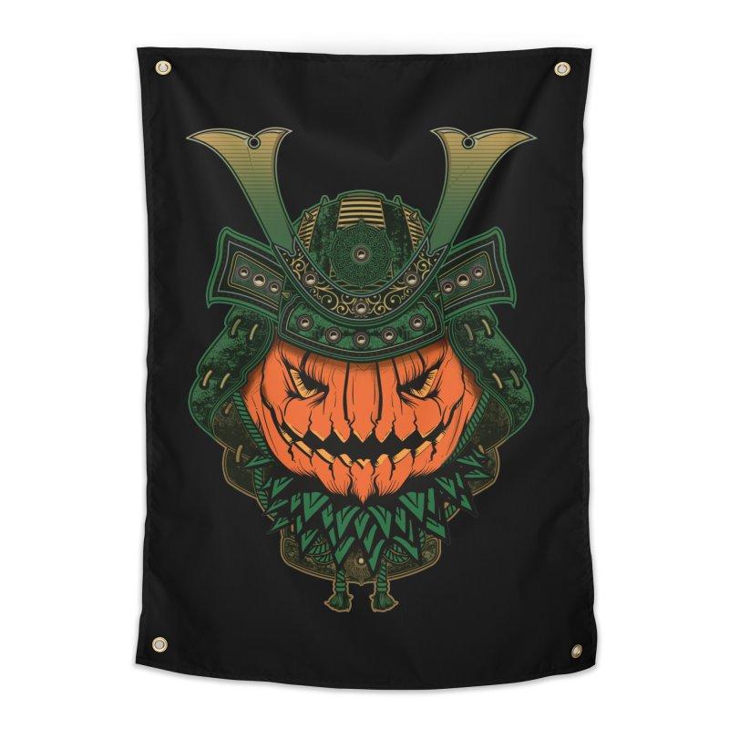 Jack O Lantern Samurai Home Tapestry by MaddFictional's Artist Shop