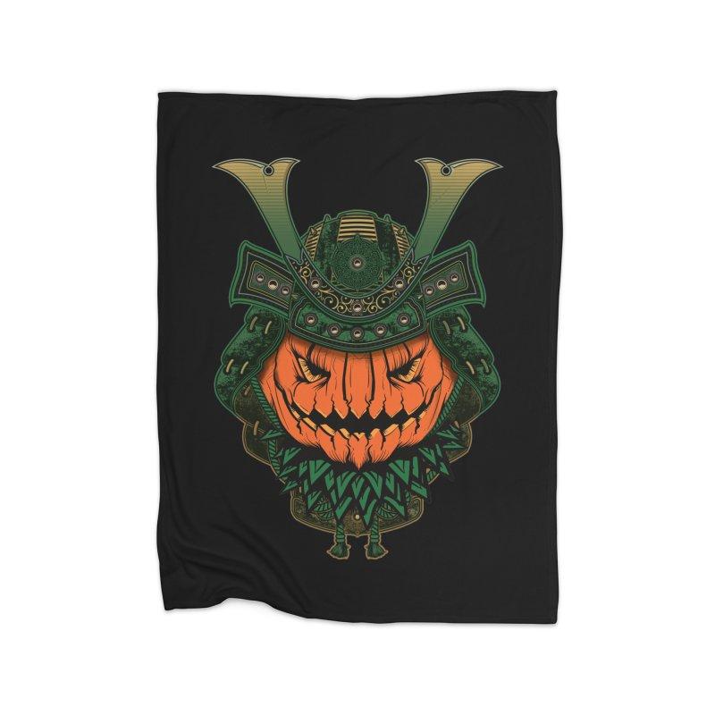 Jack O Lantern Samurai Home Blanket by MaddFictional's Artist Shop