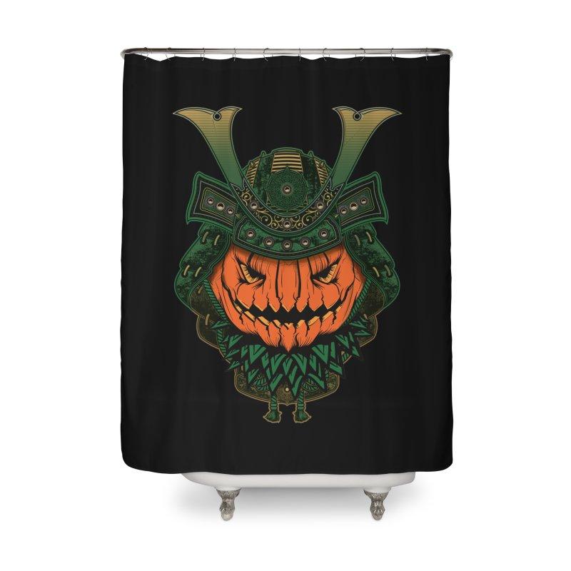 Jack O Lantern Samurai Home Shower Curtain by MaddFictional's Artist Shop