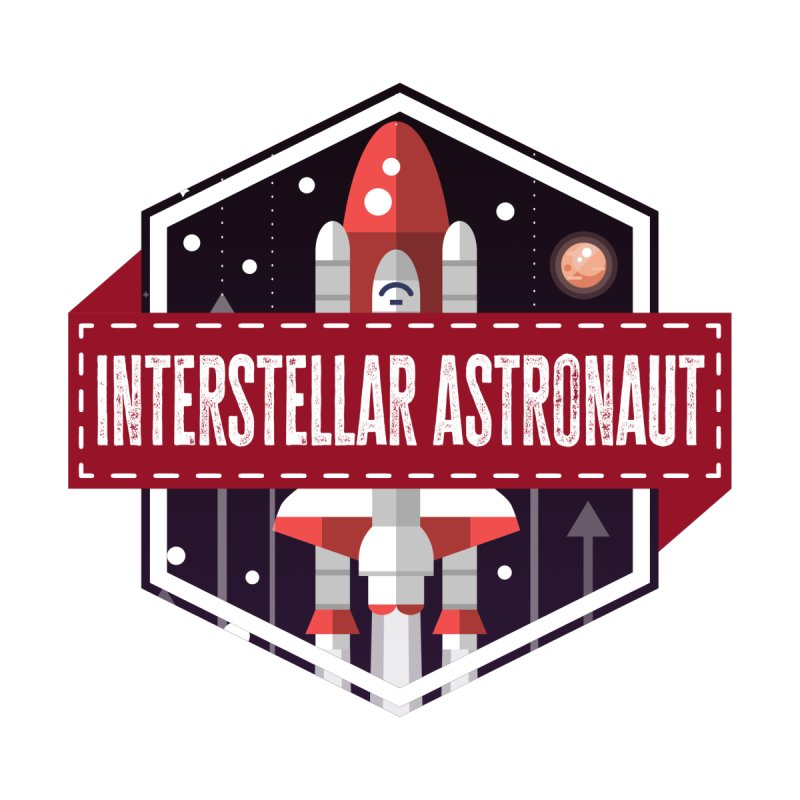 Interstellar Astronaut Kids Longsleeve T-Shirt by MaddFictional's Artist Shop