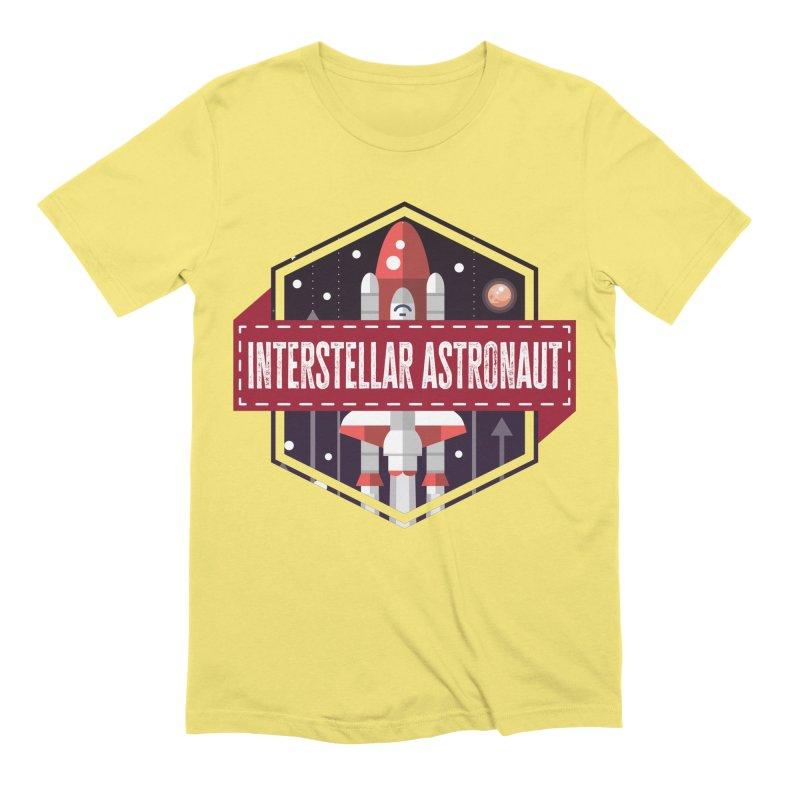 Interstellar Astronaut Men's T-Shirt by MaddFictional's Artist Shop
