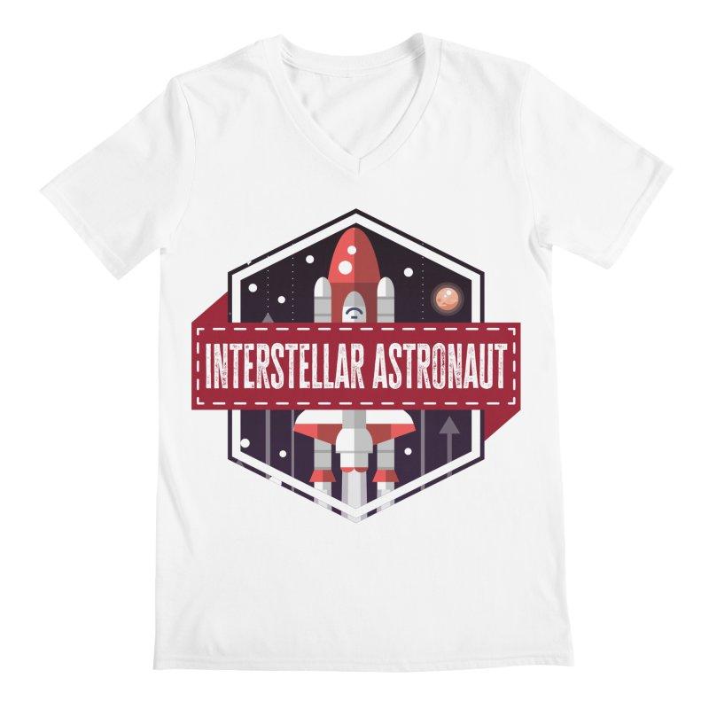 Interstellar Astronaut Men's V-Neck by MaddFictional's Artist Shop