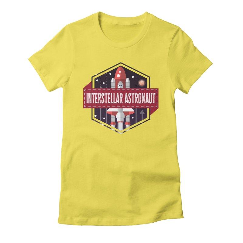 Interstellar Astronaut Women's T-Shirt by MaddFictional's Artist Shop