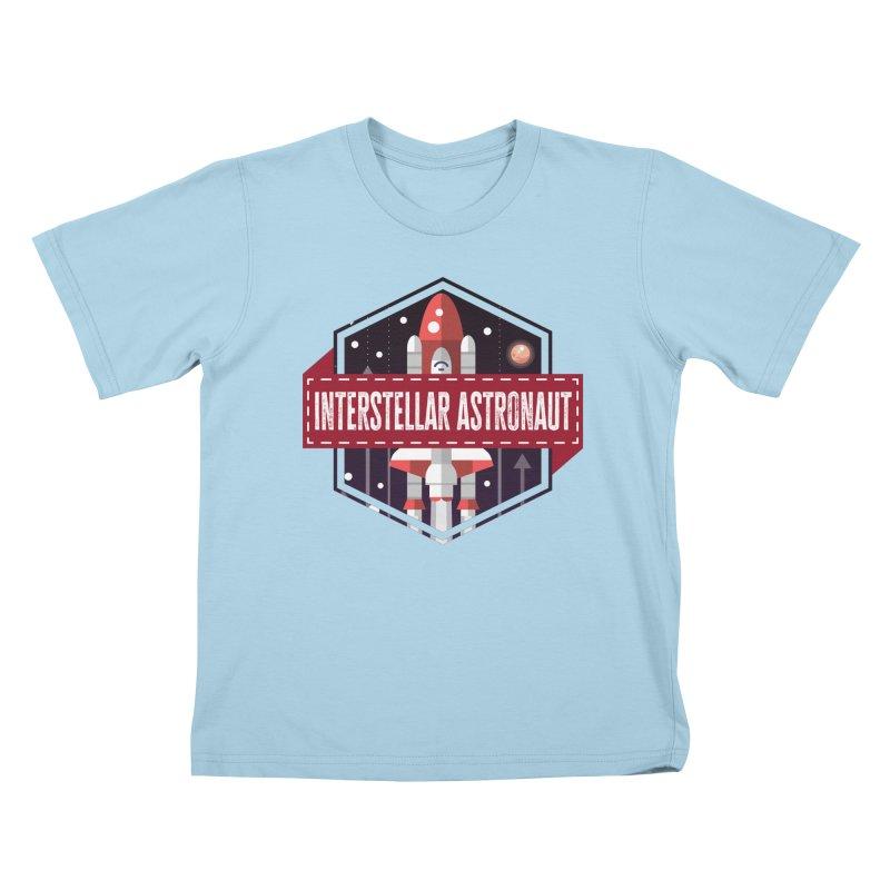 Interstellar Astronaut Kids T-Shirt by MaddFictional's Artist Shop