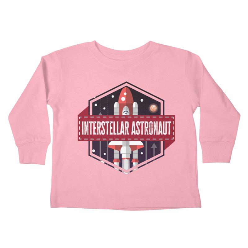 Interstellar Astronaut Kids Toddler Longsleeve T-Shirt by MaddFictional's Artist Shop