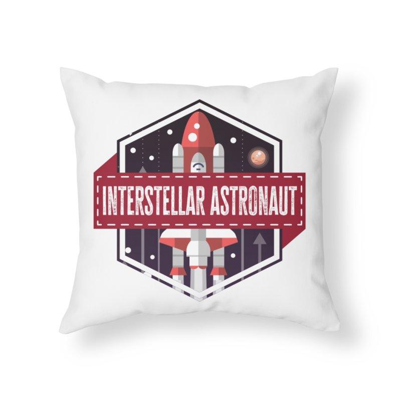 Interstellar Astronaut Home Throw Pillow by MaddFictional's Artist Shop