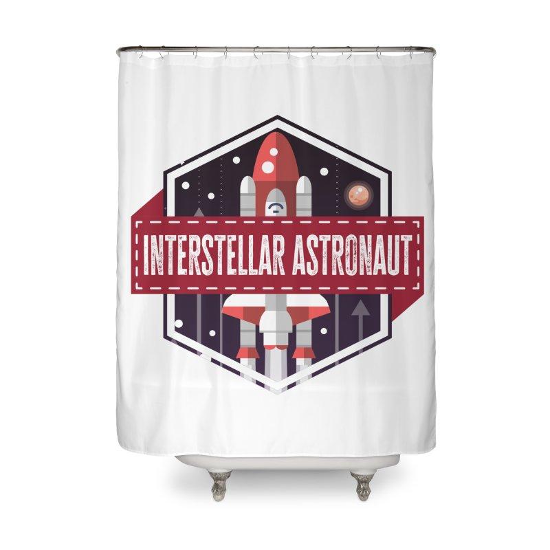 Interstellar Astronaut Home Shower Curtain by MaddFictional's Artist Shop