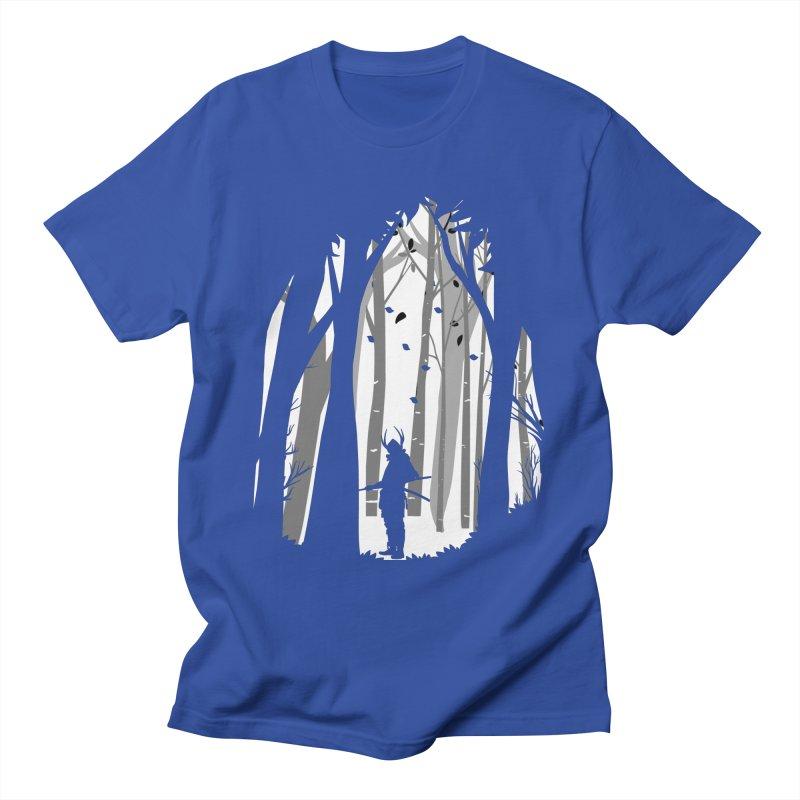Samurai of Snow Forest Men's T-Shirt by MaddFictional's Artist Shop