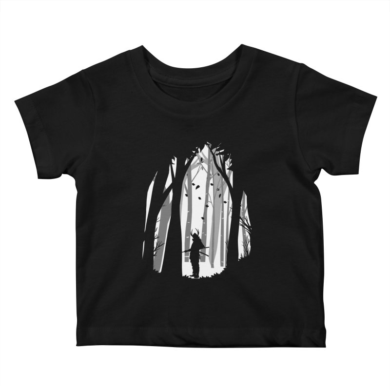 Samurai of Snow Forest Kids Baby T-Shirt by MaddFictional's Artist Shop