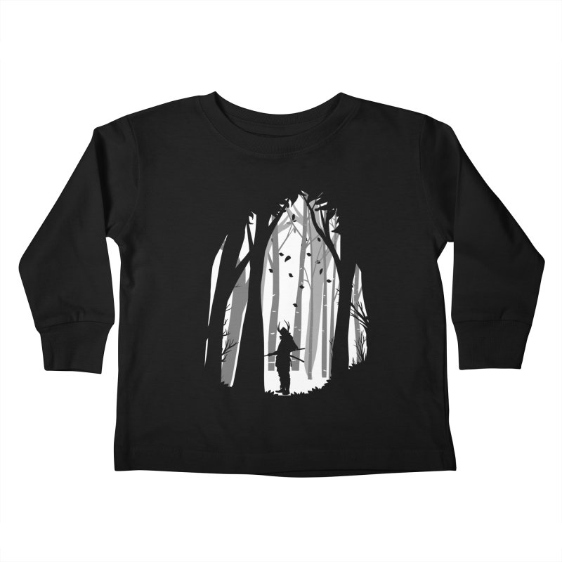 Samurai of Snow Forest Kids Toddler Longsleeve T-Shirt by MaddFictional's Artist Shop