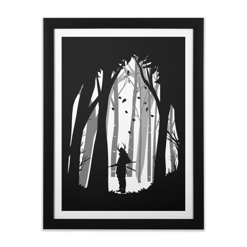 Samurai of Snow Forest Home Framed Fine Art Print by MaddFictional's Artist Shop
