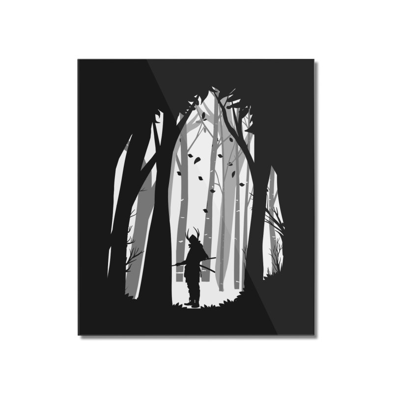 Samurai of Snow Forest Home Mounted Acrylic Print by MaddFictional's Artist Shop