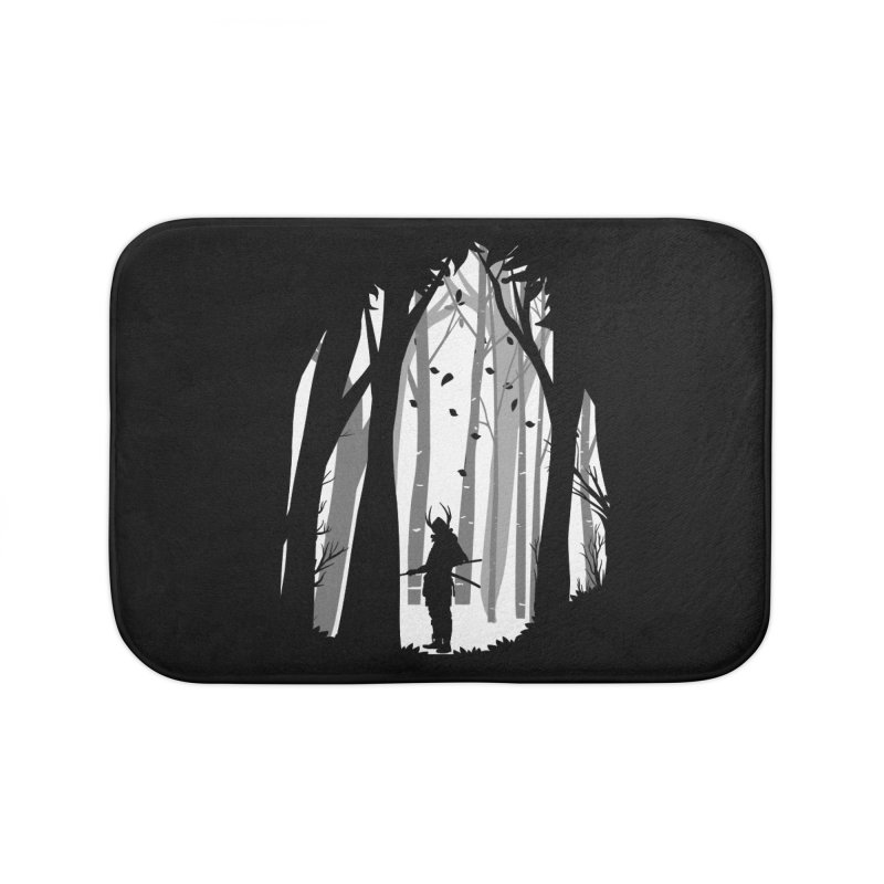 Samurai of Snow Forest Home Bath Mat by MaddFictional's Artist Shop