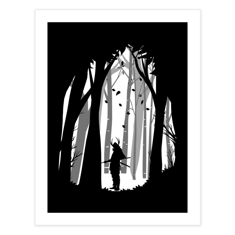 Samurai of Snow Forest Home Fine Art Print by MaddFictional's Artist Shop