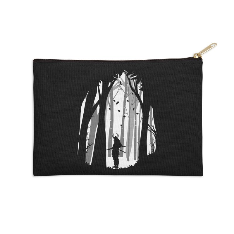 Samurai of Snow Forest Accessories Zip Pouch by MaddFictional's Artist Shop