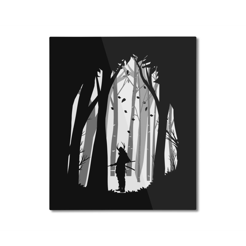Samurai of Snow Forest Home Mounted Aluminum Print by MaddFictional's Artist Shop