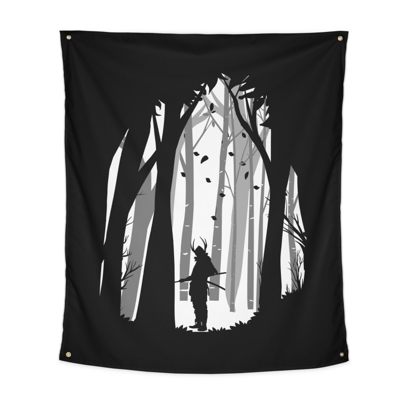 Samurai of Snow Forest Home Tapestry by MaddFictional's Artist Shop