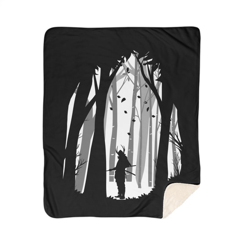 Samurai of Snow Forest Home Blanket by MaddFictional's Artist Shop