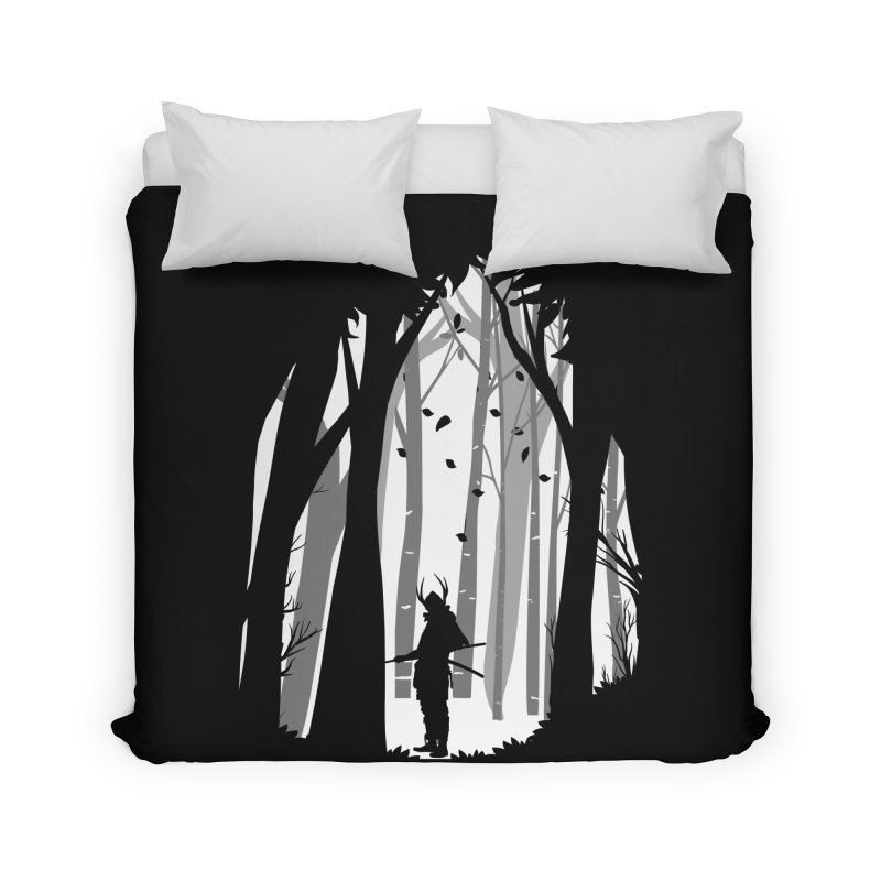 Samurai of Snow Forest Home Duvet by MaddFictional's Artist Shop