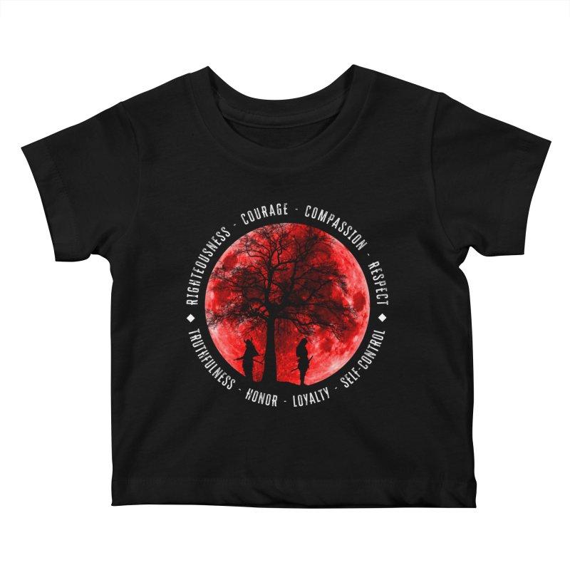 Under The Bushido Tree Kids Baby T-Shirt by MaddFictional's Artist Shop