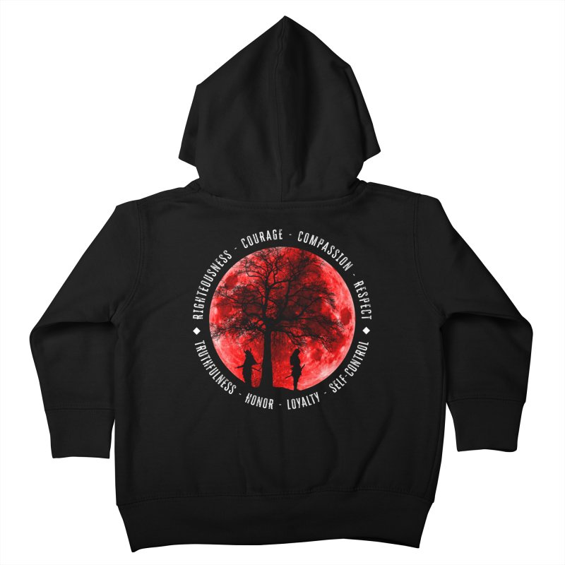 Under The Bushido Tree Kids Toddler Zip-Up Hoody by MaddFictional's Artist Shop