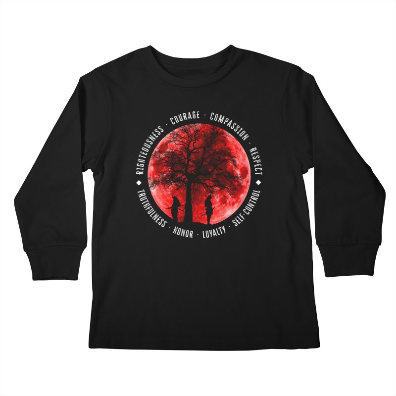 Under The Bushido Tree Kids Longsleeve T-Shirt by MaddFictional's Artist Shop