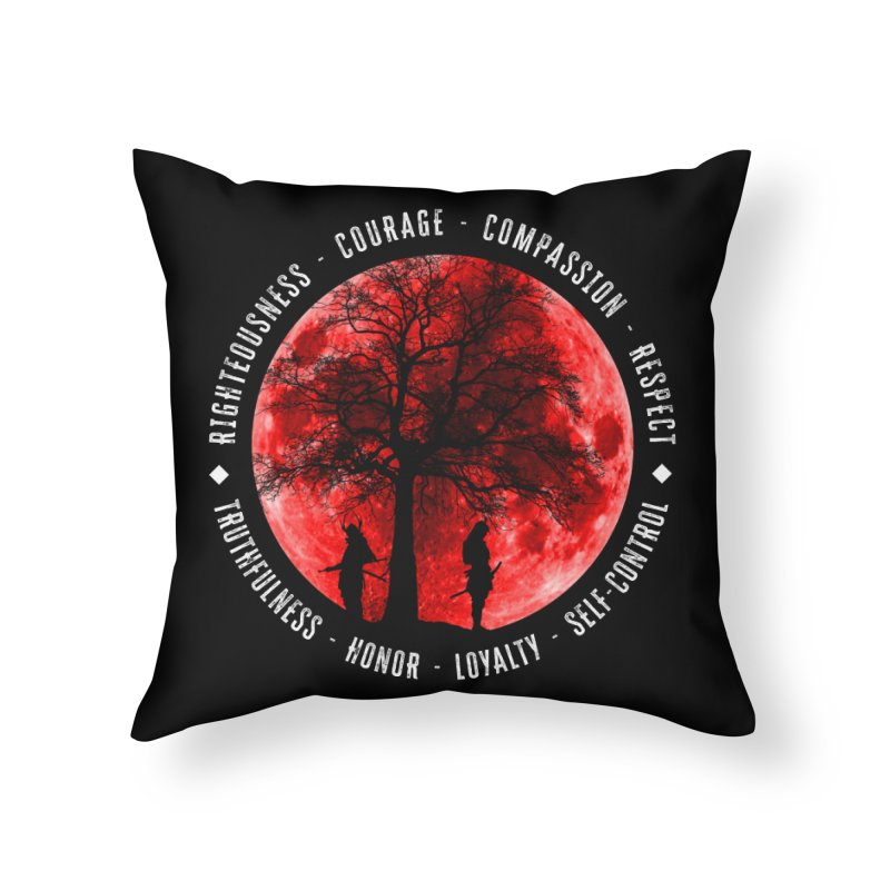 Under The Bushido Tree Home Throw Pillow by MaddFictional's Artist Shop
