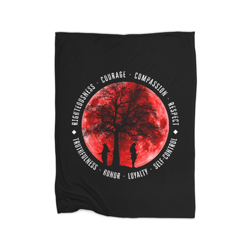 Under The Bushido Tree Home Blanket by MaddFictional's Artist Shop