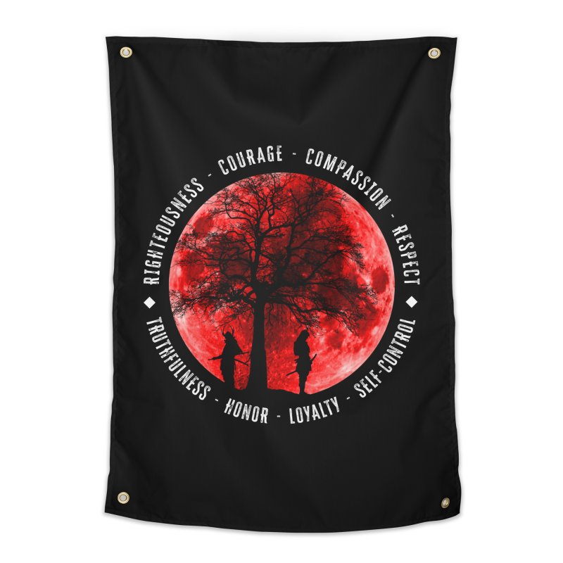 Under The Bushido Tree Home Tapestry by MaddFictional's Artist Shop