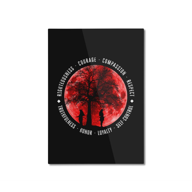 Under The Bushido Tree Home Mounted Aluminum Print by MaddFictional's Artist Shop