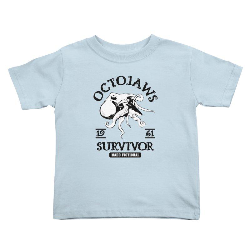 OctoJaws Survivor Kids Toddler T-Shirt by MaddFictional's Artist Shop