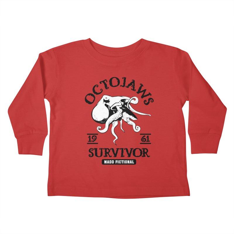 OctoJaws Survivor Kids Toddler Longsleeve T-Shirt by MaddFictional's Artist Shop