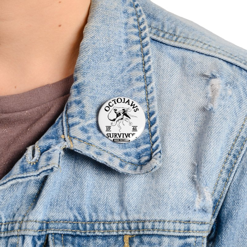 OctoJaws Survivor Accessories Button by MaddFictional's Artist Shop